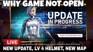 Free Fire New Update 2019 Live  LV4 HELMET, NEW MAP(GAME IS NOT OPENING 14th AUGUST 2019)
