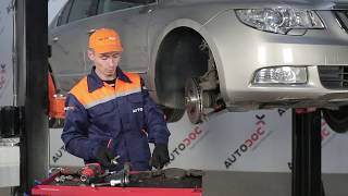 Replacing Brake pad set disc brake on SKODA SUPERB: workshop manual