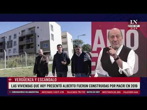 Vergüenza y escándalo. Alberto presentó viviendas que fueron construidas por Macri en 2019