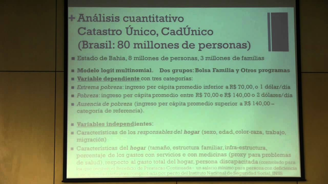 Evaluación Del Programa Bolsa Familia En Brasil