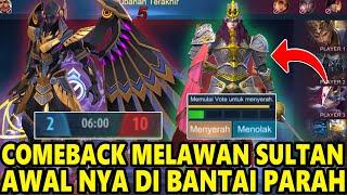 EPIC COMEBACK MELAWAN SULTAN YANG PAMER SKIN MAHAL SAMPAI 10 JUTA !DI LEDEKIN EMOTE - Mobile Legends