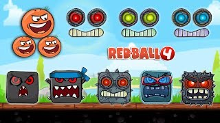 """RED BALL 4 - """"ORANGE TOMATO BALL"""" Battle All Bosses with"""