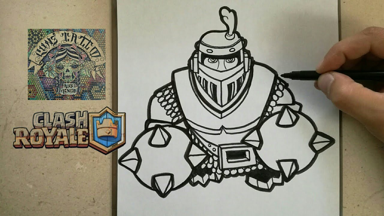 Como Dibujar Al Mega Caballero Clash Royale How To Draw Mega Knight Clash Royale