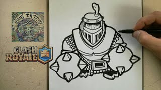 COMO DIBUJAR AL MEGA CABALLERO - CLASH ROYALE / how to draw mega knight - clash royale