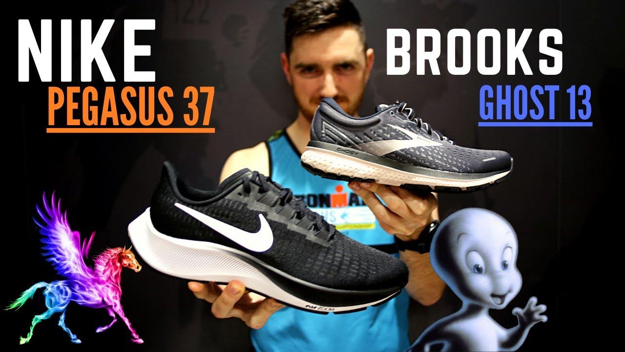 Brooks Ghost 13 vs Nike Pegasus 37
