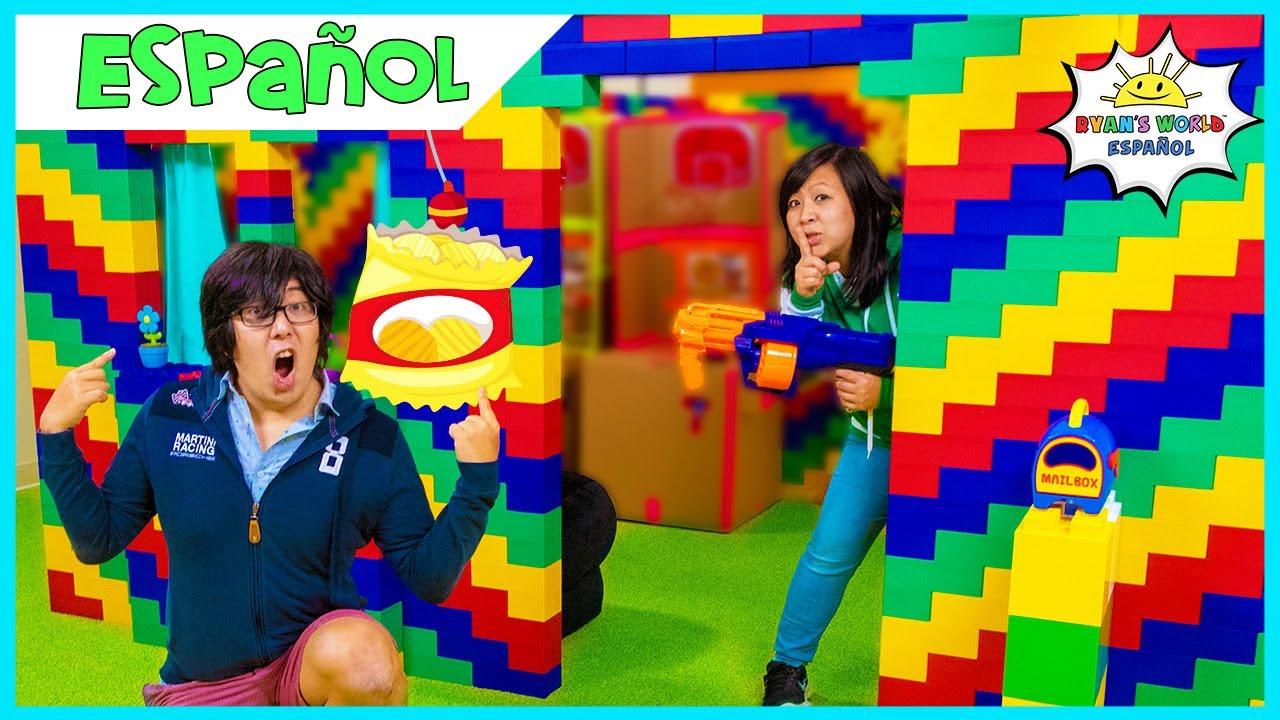 24 horas en el desafío GIANT Lego box fort house
