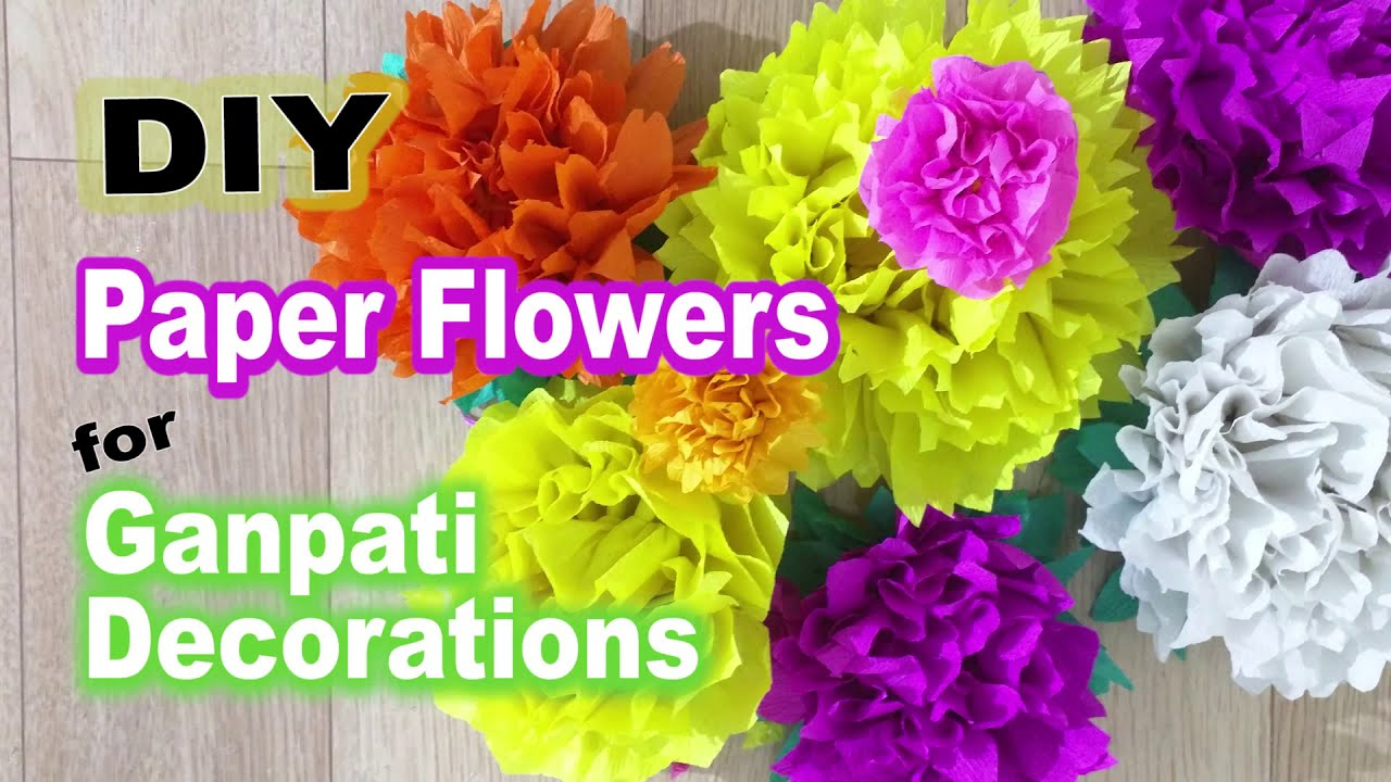 Homemade Paper Flower Decorations Romeondinez