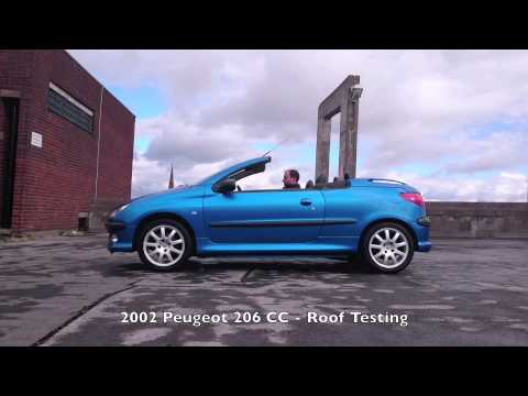 2002 peugeot 206 cc roof opening and closing test youtube. Black Bedroom Furniture Sets. Home Design Ideas
