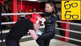 Самая красивая девушка-боец Юстына Грачык и ее фишки, комбинации, коронки — техника муай тай в ММА
