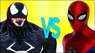 ВЕНОМ VS ЧЕЛОВЕК ПАУК | СУПЕР РЭП БИТВА | Spiderman Cartoon ПРОТИВ Venom Trailer