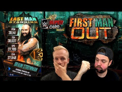 NEW GAME: FIRST MAN OUT - WWE SuperCard Last Man Standing Collab w/ CNGaming