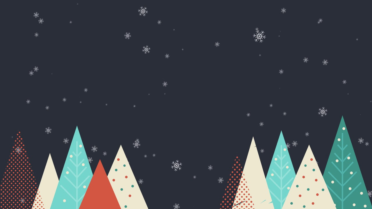 Christmas Graphic.Merry Christmas Background With Trees And Snowflakes Free Motion Graphics
