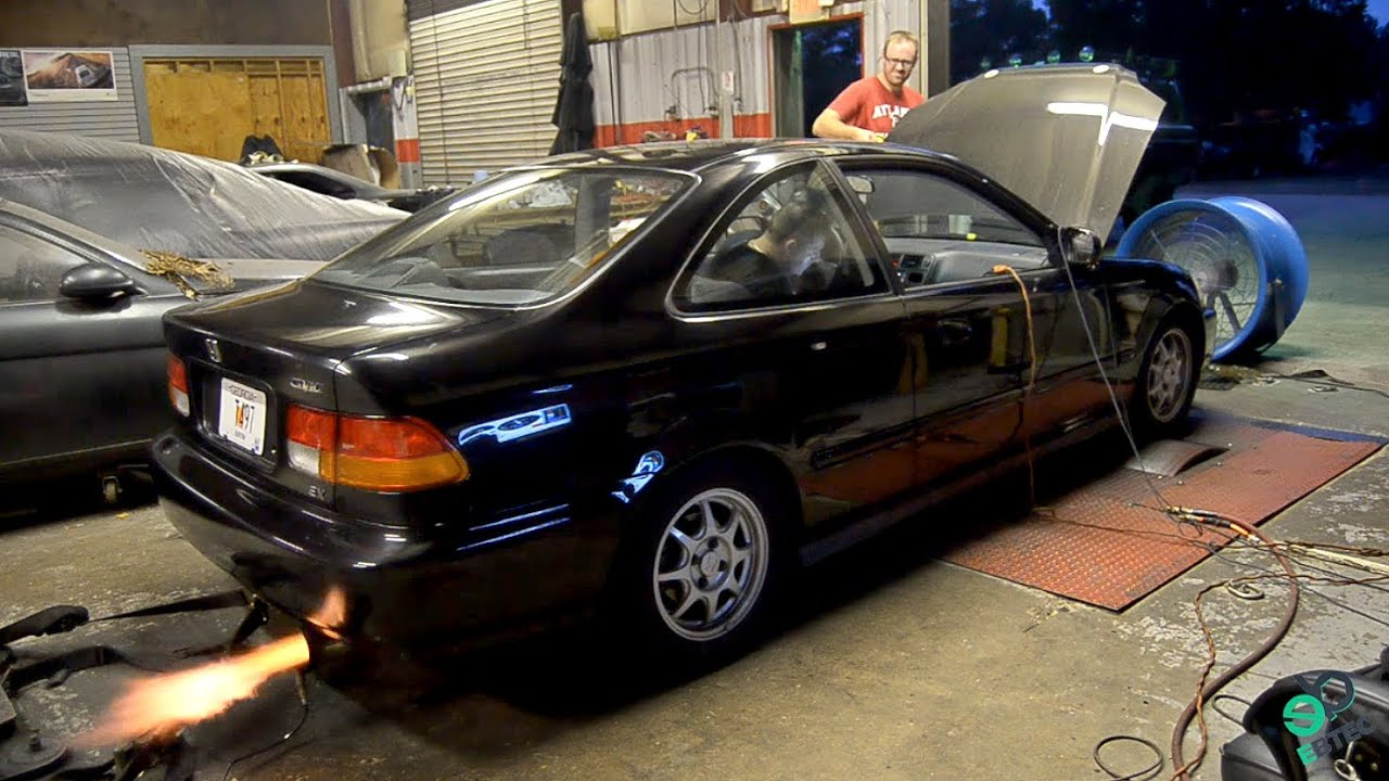 Sleeper Turbo Civic - YouTube