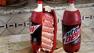 Mountain Dew Code Red Bottle Cake