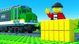 LEGO Train Gold Transport Fail