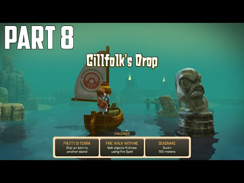 Oceanhorn: Monster Of Uncharted Seas - 100% Walkthrough Part 8 [PS4] –  Gillfolk's Drop