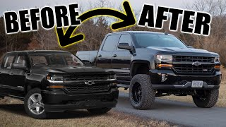 2018 Chevy Silverado Full LIFT kit Build in 1 Day