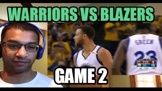 Golden State Warriors vs Portland Trail Blazers HIGHLIGHTS| Game 2 NBA Playoffs (REACTION)
