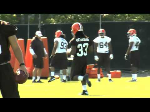 "Rookie Mini Camp Trent Richardson ""Cleveland Browns"""