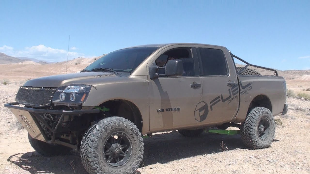 Lifted Nissan Titan And Frontiers At Nellis Dunes Apex