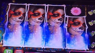 ** BIG WINS ** Sweet Skulls ** Trippled the Money ** New Game ** SLOT LOVER **(This is a New Game Sweet Skulls, I did a live play with 100 dollars with max bet, 2 bonuses with big line hits and wins... Check out the video., 2016-08-07T12:30:01.000Z)