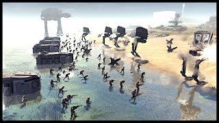 Star Wars D-Day - Imperial Beach Assault | Men of War Assault Squad 2 Star Wars Mod Gameplay