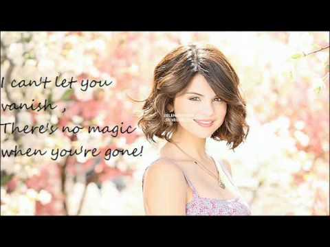 disappear Selena Gomez, lyrics, and download.