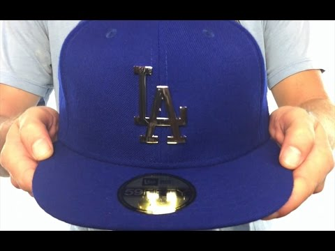 3d03e3243 Dodgers 'SILVER METAL-BADGE' Royal Fitted Hat by New Era