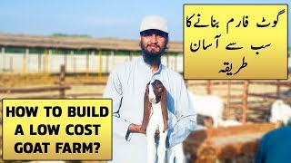 How to Build a Cost Effective Goat Farm Shed Easily? Complete Informative Documentary in Urdu Hindi