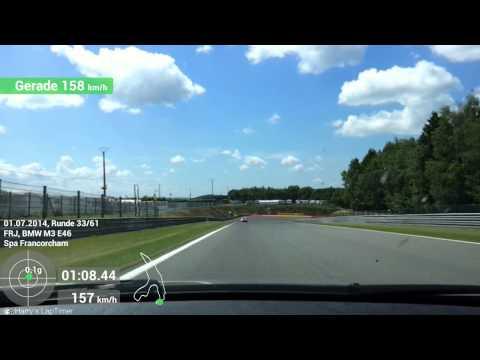 Trackdays.de Spa 01.07.14, on board M3 E46