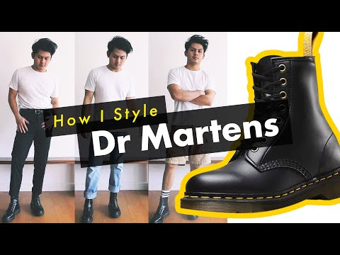 How I Style Dr Martens Boots! - (1460 / Pascal Combat Boots Men's Outfits)