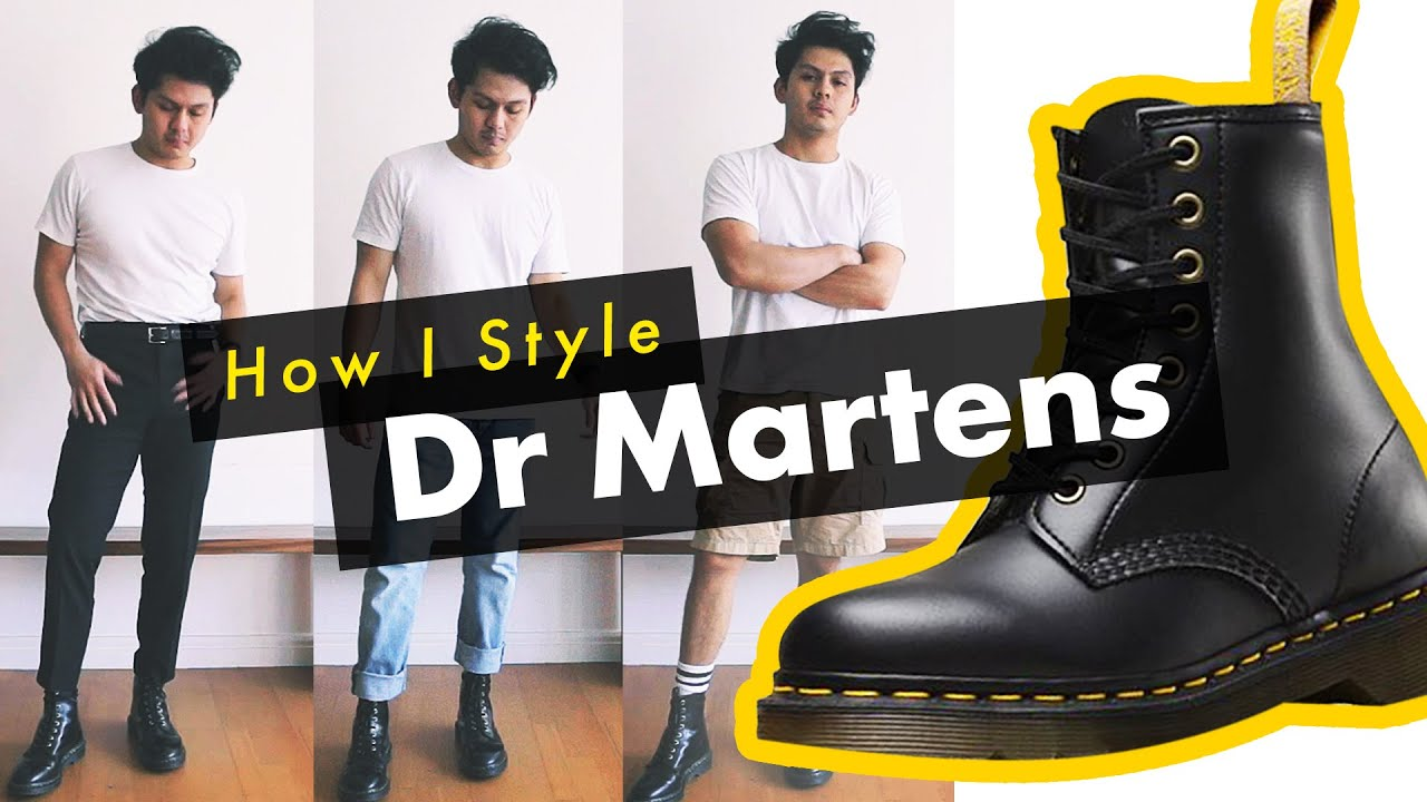 How I Style Dr Martens Boots! , (1460 / Pascal Combat Boots Men\u0027s Outfits)
