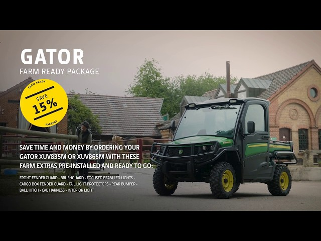 John Deere   Gator XUV865M Farm Ready Package