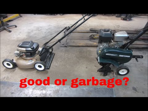 will they run? yard sale tiller and mower