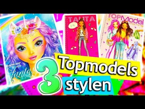 Topmodel Fantasy Malen | 3 Topmodel Fantasy Challenge | Fantasy Face | Lexy | Talita | DIY Kids Club