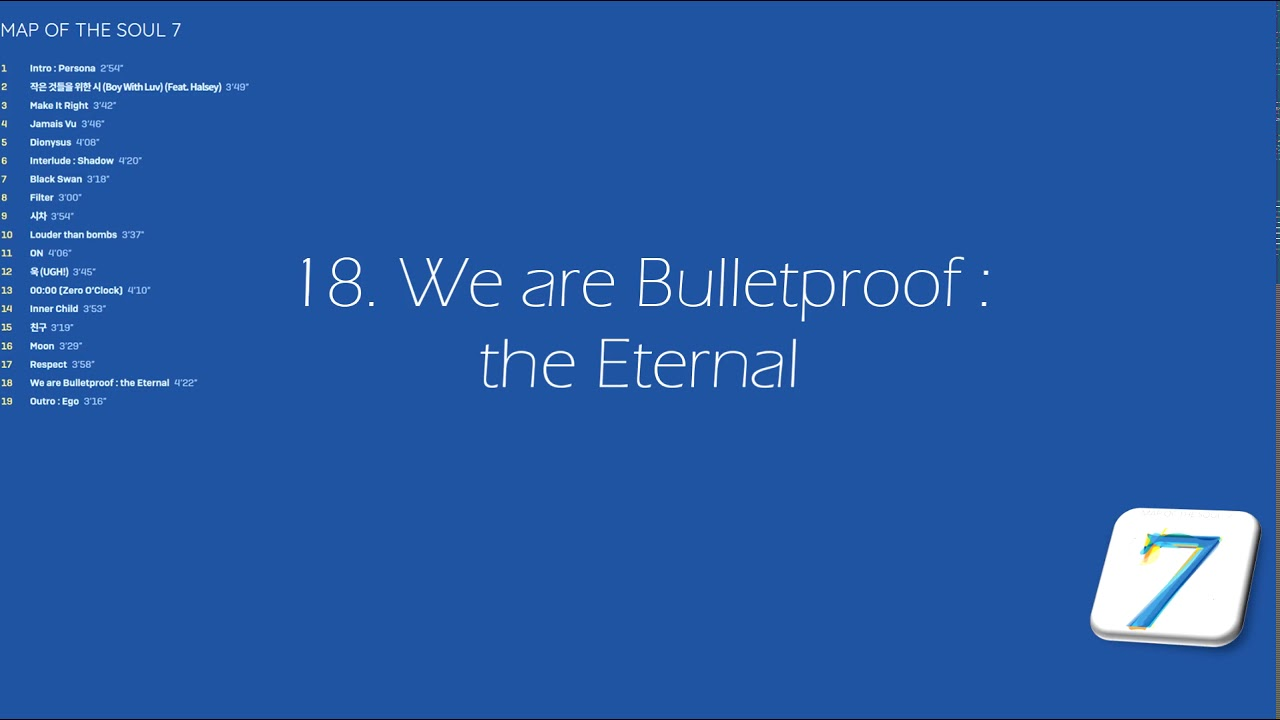 BTS - Map of the soul:7 // 18. We are bulletproof: the Eternal (Eng/Greek subs)