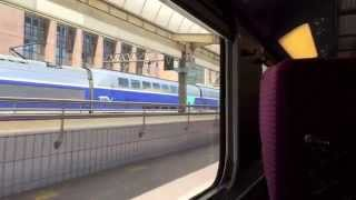 Trip on the TGV (High Speed Train) from Lyon to Paris in France