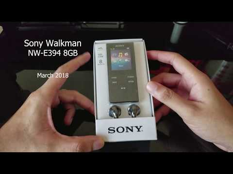 Sony NW-E394 8GB Black Walkman Unboxing Overview
