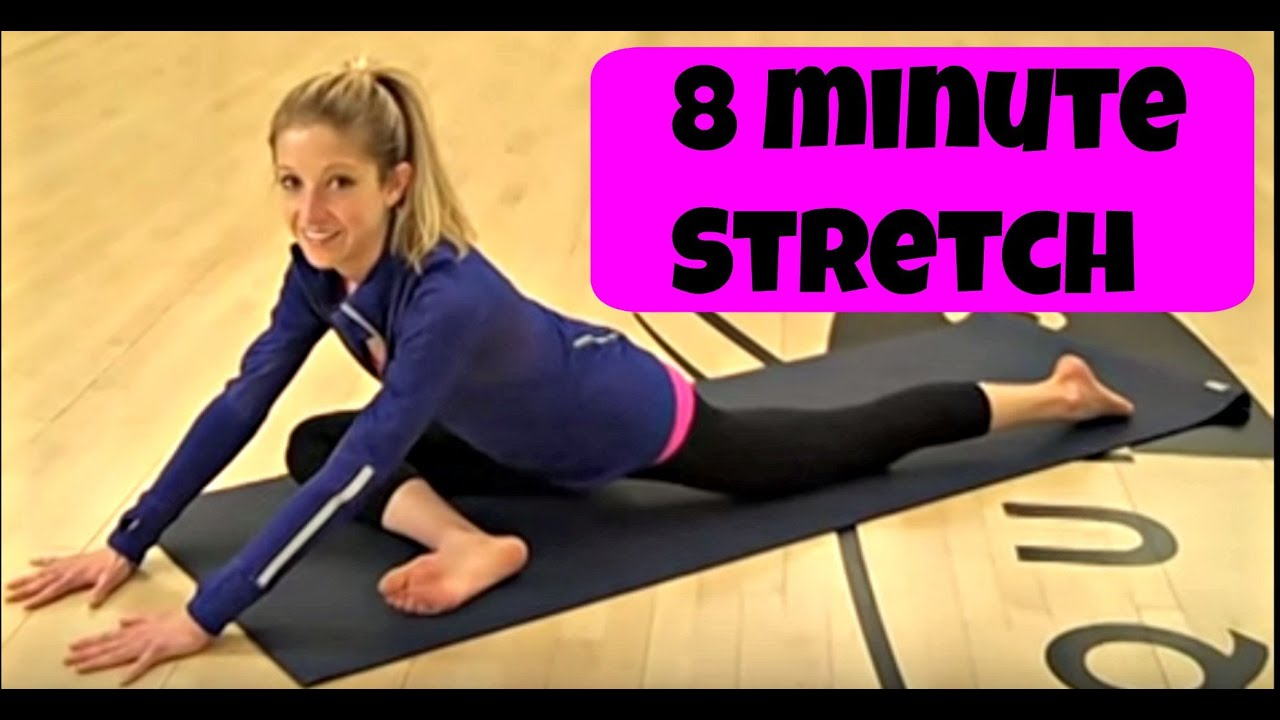 8 Minute after workout stretching video  Free online flexibility routine