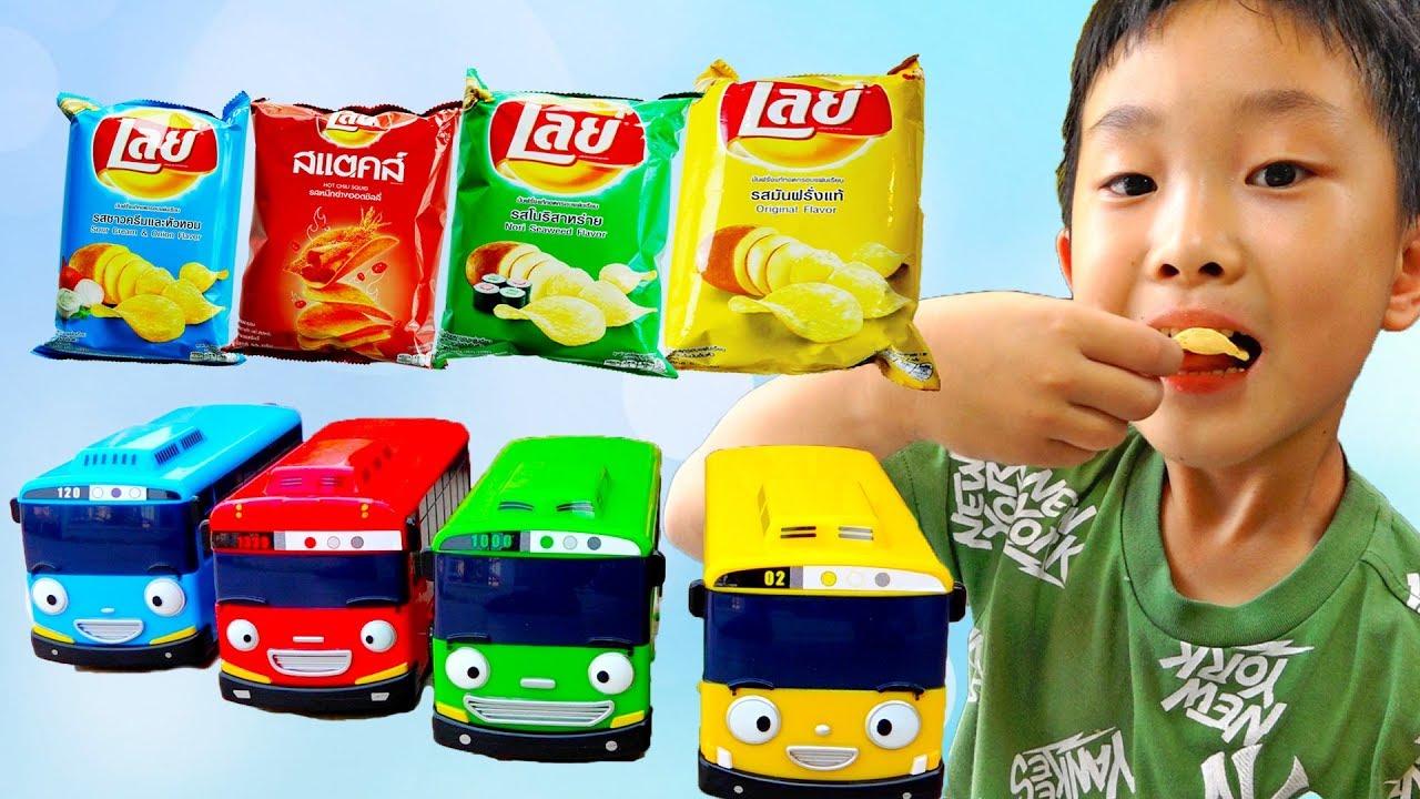 타요 버스로 색깔놀이 모래놀이 예준이의 전동 자동차 장난감 어린이 동물원 Learn Colors Tayo Bus Car Toy for Kids