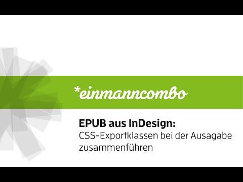 EPUB aus InDesign: CSS-Exportklassen mappen