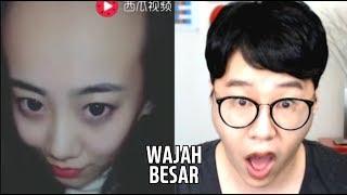 Reaksi & Ekspresi Kaget ft. Wajah Besar (Pentingnya Rambut Wanita Belah Samping)