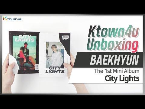 Unboxing Exo Baekhyun City Lights 1st Mini Album 엑소 백현 언