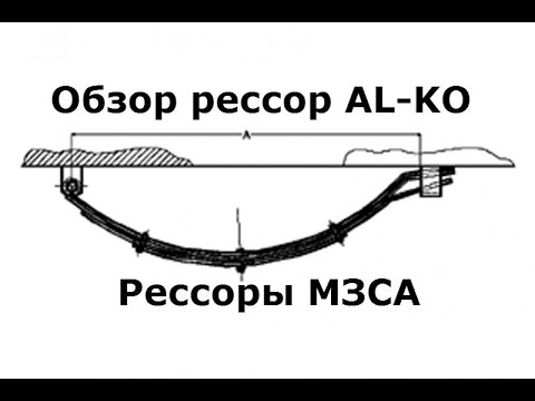 Легковые рессоры ALKO-обзор. Рессоры для прицепа МЗСА. Рессоры на прицеп легковой. ЦЛП АРИВА