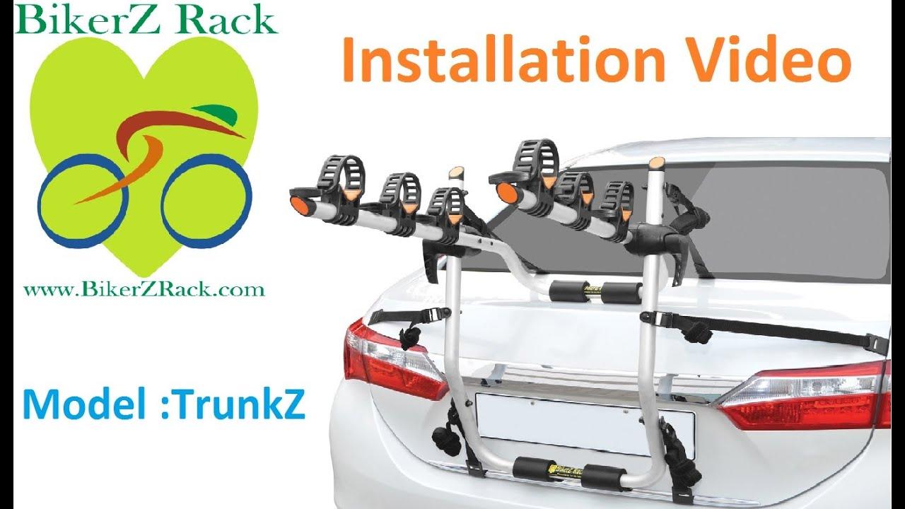 Rear Mounted Bike Rack Installation Video Bikerz Trunkz Youtube
