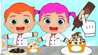 BABY ALEX AND LILY How to Make Oreo and M&M McFlurry 😋 Recipes for Kids