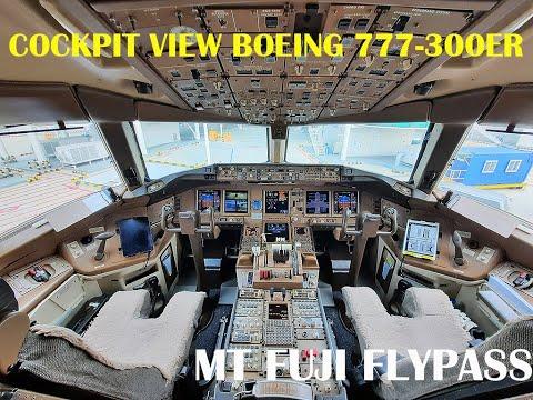 Perjalanan Ke Tokyo (PART 2)- Cockpit View Boeing 777-300ER- Tokyo And Mt Fuji Flypass