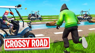 GET HIT = LOSE! (Fortnite Crossy Roads)