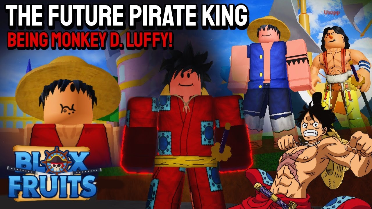 I Became LUFFY For A Day in Blox Fruits | Roblox #bloxfruits