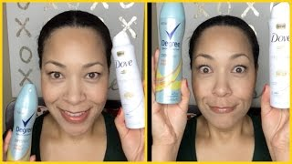 Dove vs. Degree Dry Spray | Battle of the DEODORANTS